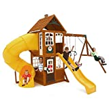 LEWISTON RETREAT CEDAR WOOD SWING SET PLAYSET SUMMIT KIDKRAFT