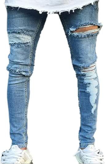 Pantalones De Mezclilla para Hombres Esencial Fit Flaco ...