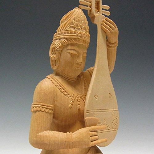 桧 弁才天像 20cm 木彫り 仏像