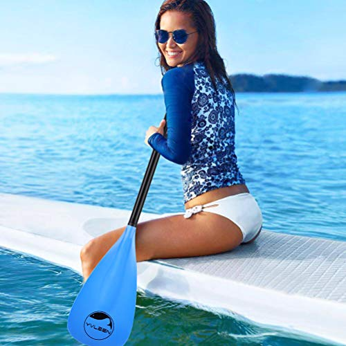 YVLEEN Alloy SUP Paddle - Adjustable Stand Up Paddle Board Paddle - 3-Piece or 4-Piece Floating Kayak Paddle