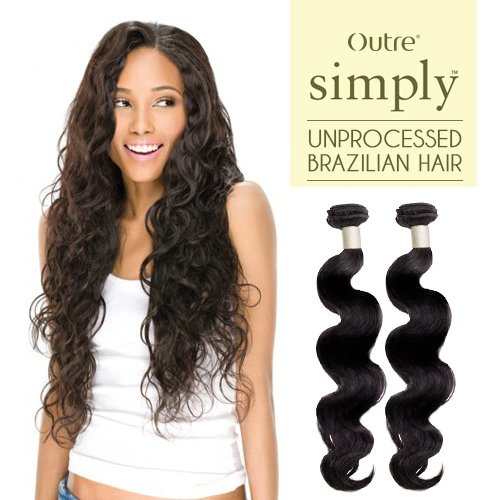 Outre Simply 100% Unprocessed Brazilian Human Hair - Body Wave (18