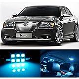 13pcs LED Premium ICE Blue Light Interior Package Deal for Chrysler 300 300c 2011-2016