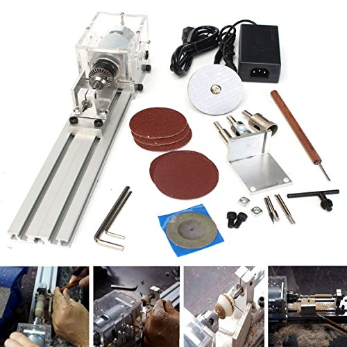 Best Buy! XNEMON Metal Lathes Mini Lathe Beads Machine Polisher Table Saw Mini DIY Wood Lathe
