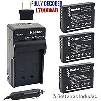 Kastar 3X Battery + Charger for Panasonic DMW-BCG10 & Lumix DMC-ZS19 DMC-ZS8 DMC-ZS10 DMC-ZS20 DMC-ZS7 DMC-ZS3 DMC-ZS15 DMC-ZS5 DMC-ZS1 DMC-ZS6 DMC-TZ20 DMC-TZ7 DMC-TZ30 DMC-ZR1 DMC-TZ10 DMC-ZR3 TZ19