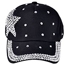 Mapletop Boy Girls Snapback Hat Baseball Cap Rhinestone Star Shaped Hat
