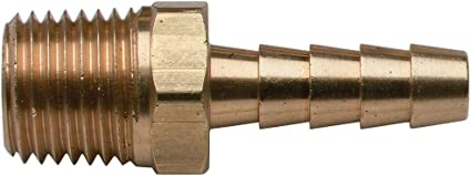 """BRASS PIPE FITTING MALE 2 1//2/"""" X 3//4/"""" LOT OF FIVE 5 MARINE BOAT"""