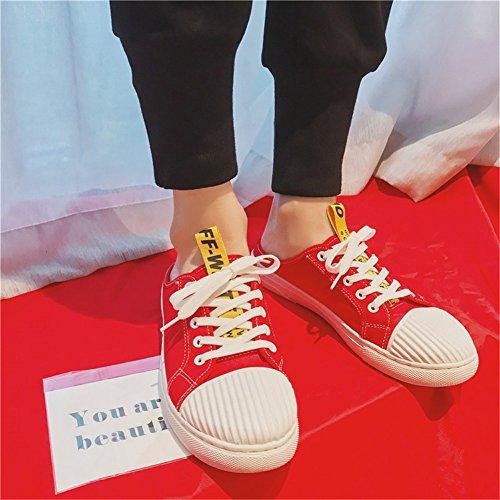 Légers Automne Chaussures Noir Lacets De Et Mocassins B Hommes Casual Pour Marche Slip Printemps ons Blanc Conduite Demi À pantoufles Rouge Respirant PICRwAqqY