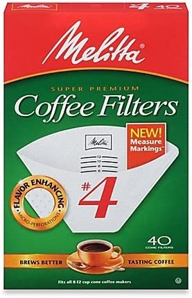 No. 4 Cone Coffee Filter In White (40 Count) (Pack of 3)