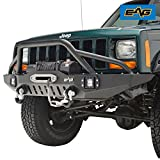 xj cherokee front bumper - EAG Front Bumper With LED Lights for 84-01 Jeep Cherokee XJ