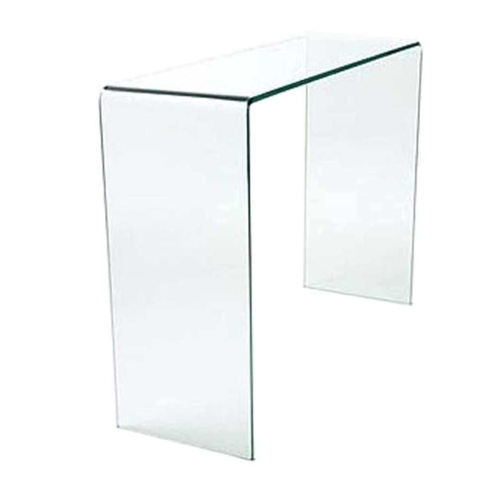 Curved Glass Console Table w 77.5 x h 31 x d 78 cm Abode Interiors