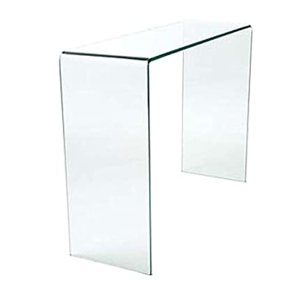 promo code 2e0b0 ec2d4 Curved Glass Console Table Small W75.5 x D31 x H78 cm