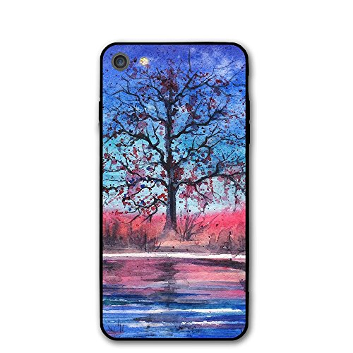 IPhone 7 Case Painted Landscape Night Protective Shockproof Anti-Scratch Resistant Slim Cover Case For IPhone 7 Hard - Painted Pullman