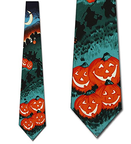 Pumpkin Patch Neck Ties Halloween Mens -