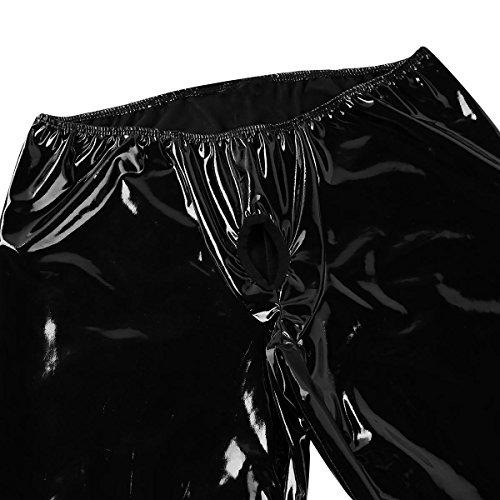 De Lingerie Trou Erotique M Avec Sous Cuir Pantalon Sport Bal Ouvert En Pénis Tiaobug Collant Bas Verni xxl Legging Nuit Noir Club vêtement Homme wq4S6zOE