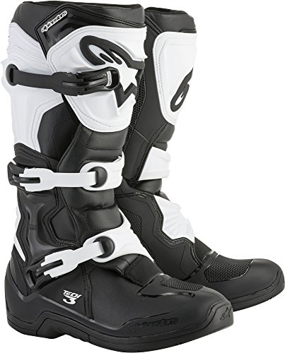 Alpinestars Tech 3 Motocross Off-Road Boots 2018 Version Men's Black/White Size 14 by Alpinestars