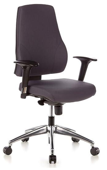 Hjh Office 608030 Profi Burostuhl Pro Tec 200 Stoff Grau Drehstuhl
