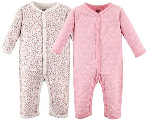 Hudson Baby Baby Cotton Union Suit, 2 Pack