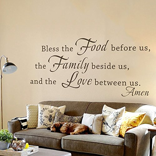 Us Stock Live Quote: Bible Wall Decal Bless The Food Before Us Vinyl Religious