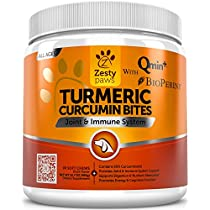 Turmeric Curcumin Treats for Dogs - With 95% Curcuminoids for Hip & Joint Health - All in One Digestive, Mobility & Immune Support Supplement with Organic Turmeric, Coconut Oil and BioPerine
