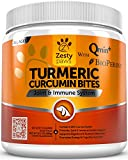 Image of Turmeric Curcumin Treats for Dogs - With 95% Curcuminoids for Hip & Joint Health - All in One Digestive, Mobility & Immune Support Supplement with Organic Turmeric, Coconut Oil and BioPerine