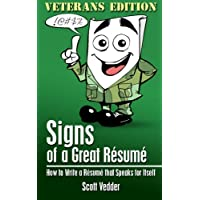 Image for Signs of a Great Résumé: Veterans Edition: How to Write a Résumé that Speaks for Itself