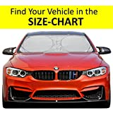 #9: Windshield Sun Shade Suv Car Easy-Select Size Chart with Your Vehicle Universal Luxurious-210T Keep Vehicle Accessories Cool UV Sun and Heat Reflector Sunshade (Small)