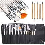 JZK® Kit di strumenti per nail art , manicure e pedicure, gel unghie