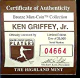"1994 Highland Mint ""LIMITED EDITION"" MLB Baseball Collectible Coin Bronze: Ken Griffey Jr. - Cincinnati Reds / Seattle Mariners"