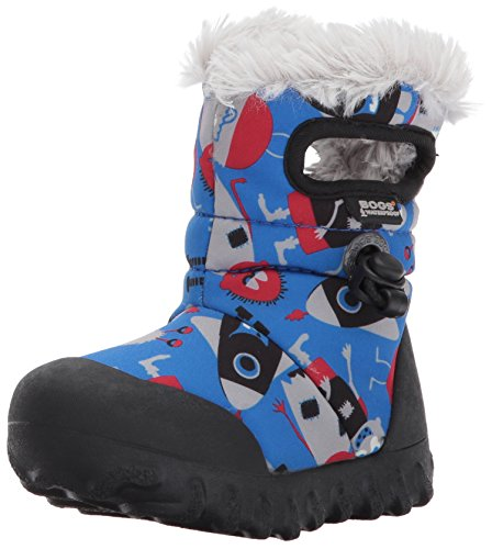 Bogs Kids' B-Moc Waterproof Insulated Toddler Winter Boot Light Blue/Multi