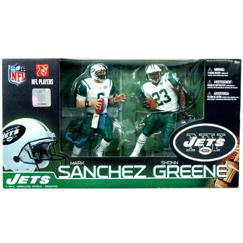 McFarlane Toys New York Jets Mark Sanchez & Shonn Greene Collectors Edition Action Figurines (Jets Football Stuff compare prices)