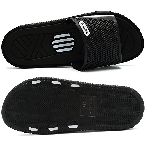 welltree Men's Slide Slipper Shower/Pool / Beach/Garden Quick Drying Sandal 7 D(M) US Men / 40 Black by welltree (Image #4)
