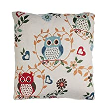 changeshopping(TM)Fashion Retro Home Car Bed Sofa Vintage Decorative Owl Pillow Case Cushion Cover