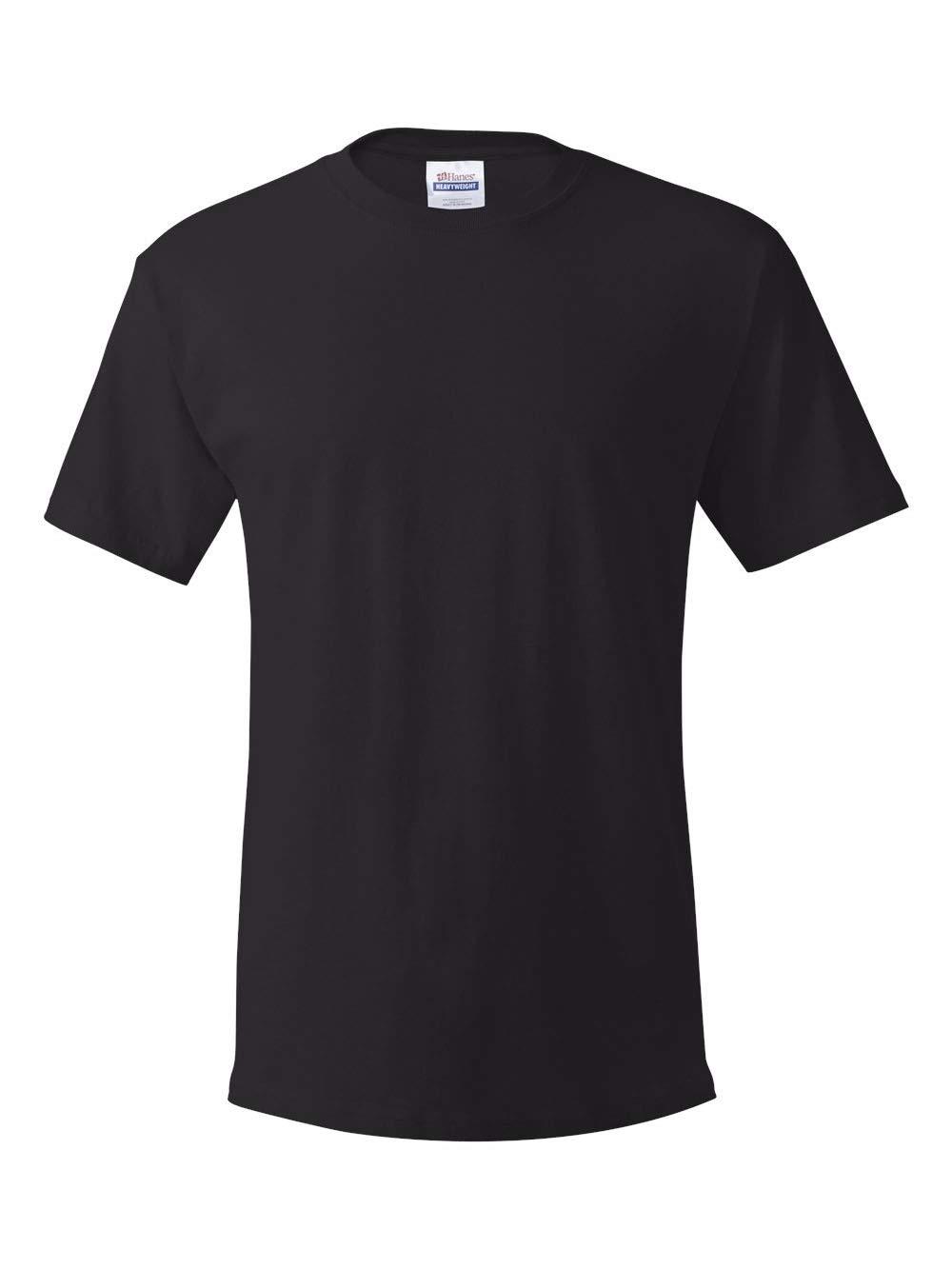 Hanes Men's Comfortsoft T-Shirt (Pack Of 4),Black,Large