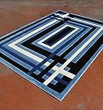 Cheap Homemusthaves Super Soft Lines 3-Dimentional Modern Contemporary Polyester Area Rug Carpet Living Room Bedroom Rug Carpet Floor Hand Carved Rug Carpet (2'x7'2″, Light Blue)