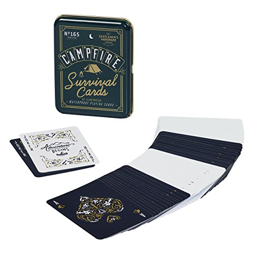 Gentlemen's Hardware Campfire Survival Travel Playing Cards Set by Gentlemen's Hardware