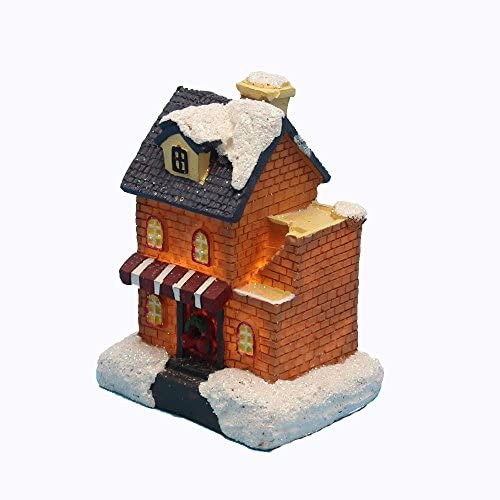 Small House Store Building innodept12 Lighting up DIY Christmas Doll Figurine Tiny Resin House Village Building 1392