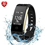 Fitness Tracker, Lattie Smart Bracelet with Heart Rate Monitor Bluetooth Wireless Step Counter Sleep Monitor Activity Health Tracker Pedometer Wristband for IOS & Android Smartphone
