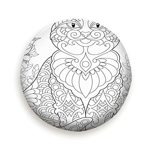 (Tire Cover Cat Spring Garden Coloring Page Adult Animals Wildlife Polyester Universal Spare Wheel Tire Cover Wheel Covers Jeep Trailer Rv SUV Truck Camper Travel Trailer)