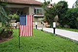 Garden Flag Stand & Stopper by GreenWeR: 32 Inch Sturdy Metal Wrought Iron Garden Flag Holder and Rubber Stopper. Your flag will never get twisted again!