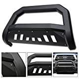 2007 toyota tacoma grill guard - VXMOTOR 2005-2015 Toyota Tacoma Matte Black AVT Edge Bold Series Bull Bar Brush Push Front Bumper Grill Grille Guard With Skid Plate