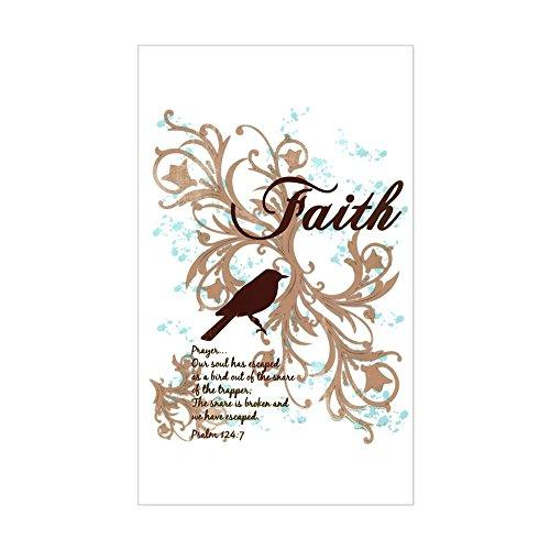Sticker (Rectangle) Large Faith Prayer Dove Christian - Tattoo Prayer