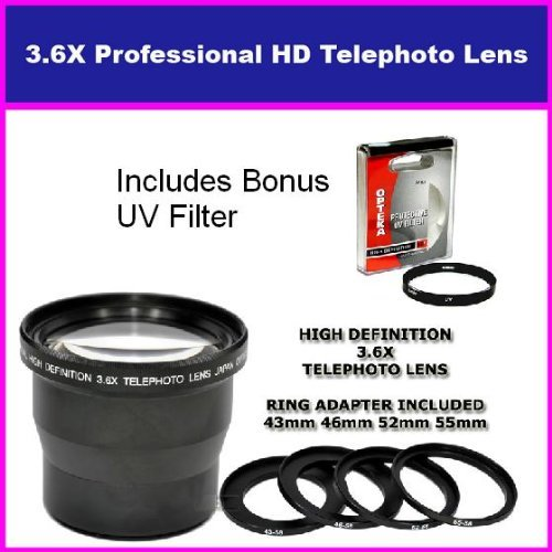 3.5X HD Professional Telephoto lens For Canon Powershot S5 I
