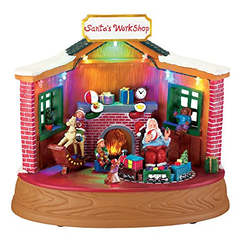 Animated Workshop Christmas Musical Figurine