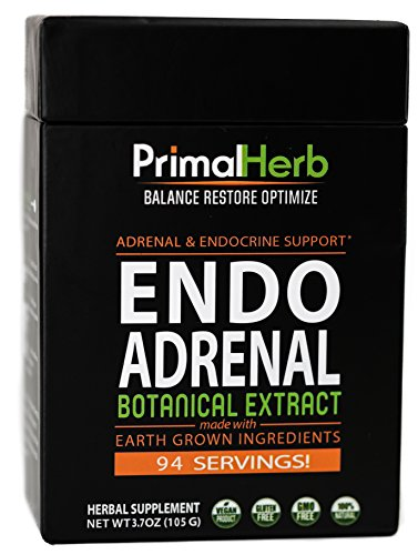 Adrenal Fatigue & Cortisol Support | by Primal Herb | Ashwagandha, Rhodiola Rosea Plus+ Herbal Formula | Extract Powder - 94 Servings - Includes Bamboo Spoon by Primal Herb