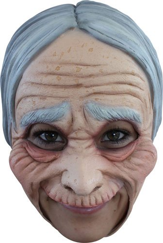 [Creepy Old Lady Grandma Halloween Mask] (Old Grandma Costumes)