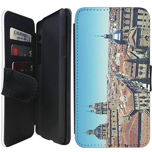 Flip Wallet Case Compatible with iPhone XR (Old City of Salamanca) with Adjustable Stand and 3 Card Holders | Shock Protection | Lightweight | Includes Free Stylus Pen by Innosub