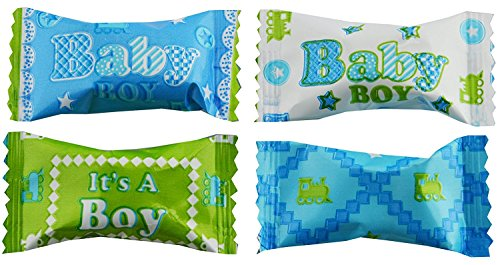 Baby Shower Mints (Party Sweets Baby Boy Blessing Buttermints by Hospitality Mints, Appx 300 mints, 7-Ounce Bags (Pack of)