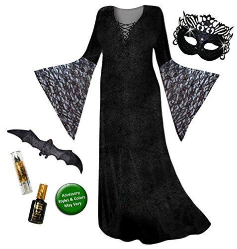 Sanctuarie Dark Fairy Angel Plus Size Supersize Halloween Costume Basic Kit (Plus Size Gothic Fairy Halloween Costumes)