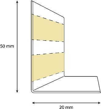 HOLZBRINK Plinthe Souple Autoadh/ésive Bouleau Plinthe pliable 25 m 50x20 mm