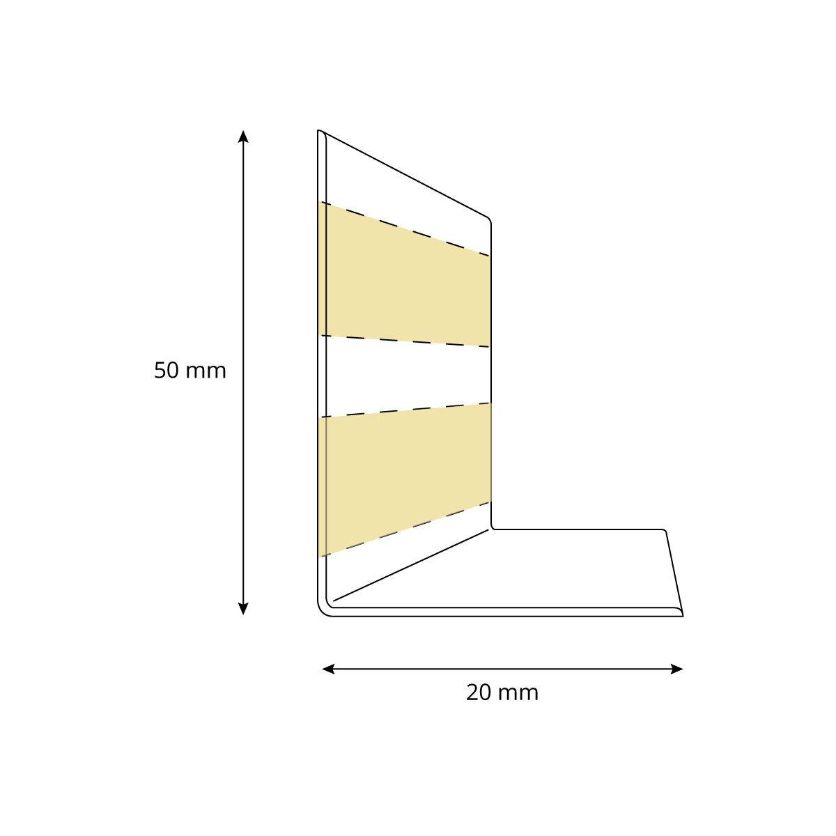 HOLZBRINK Weichsockelleiste selbstklebend BIRKE Knickleiste 10 Meter 50x20mm